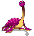 Pink dinosaur with long neck vector image vector image