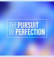 pursuit adult recreational men person perfection vector image