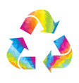 recycle sign triangle rainbow vector image