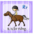 Riding vector image vector image