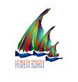 Sail Ship Logo8 vector image vector image