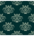 Seamless abstract paisley flower buds pattern vector image vector image