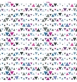Seamless pattern of triangles pink and blue on vector image