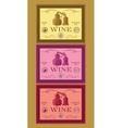 Set labels for bottles wine or menu