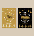 set merry christmas and 2021 happy new year vector image vector image