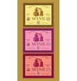 set of labels for bottles of wine or menu vector image vector image