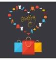 shoppinng concept card vector image vector image