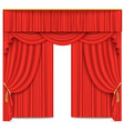 stage theater or movie curtain red vector image