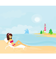 summer beach girl in bikini vector image