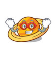 super hero planet saturnus character cartoon vector image