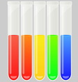 Test tube set vector image vector image