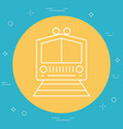 train icon image vector image