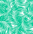 Tropical lush palms seamless pattern vector image vector image