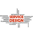 word cloud service design vector image vector image
