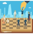Corporate business chess vector image