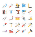 flat power tools icons set vector image