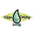 Color vintage Water delivery emblem vector image