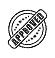 Approved damaged stamp vector image