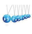 Balancing spheres vector image vector image