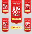 big sale best offer badge sticker label or tag vector image vector image
