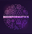bioinformatics round colorful outline vector image vector image