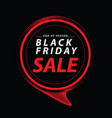 black friday sale commercial discount event banner vector image
