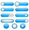 blue menu buttons 3d oval web icons vector image vector image