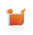 box icon paper vector image vector image
