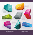 business design template can be used for step vector image vector image