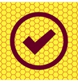 check mark Flat modern web button and space for vector image vector image