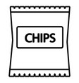 chips icon outline line style vector image vector image