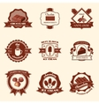 Chocolate labels set vector image vector image
