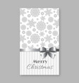 christmas and new year greeting invitation card vector image vector image