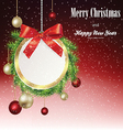 Christmas banner with frame from fir branches vector image vector image