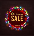 christmas sale banner template with colorful vector image