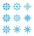 collection variation snowflakes isolated on vector image vector image