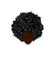 curly afro hair portrait african women isolated vector image vector image