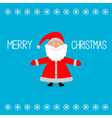 Cute cartoon Claus and snowflakes Merry Christmas vector image