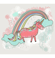 cute unicorn background vector image