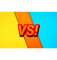 duel comic style bright template vector image