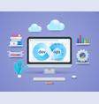 enterprise devops in 3d style vector image