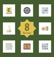 flat icon games set of lottery labyrinth mahjong vector image vector image