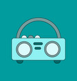 flat icon on background tape recorder vector image vector image