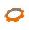 gear template icon vector image vector image