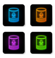glowing neon voice assistant icon isolated on vector image vector image