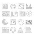 Graphs Line Icon Set vector image