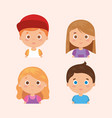 group of little kids characters vector image vector image