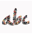 group people shape alphabet letters vector image vector image