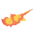 hot hexagon cyprus island map vector image vector image