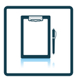 Icon of Tablet and pen vector image vector image